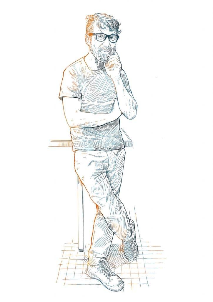 Portrait dessiné Patrice Blanc